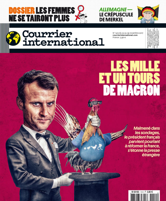 Courrier International - Les mille et un tours de Macron