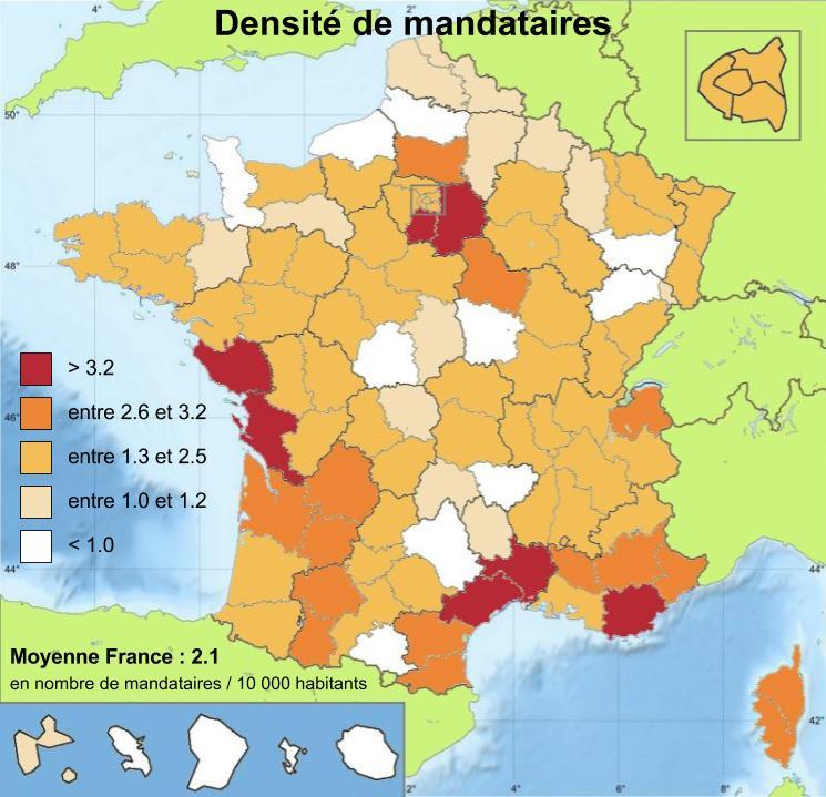 carte de france de la densité des mandataires immobilier