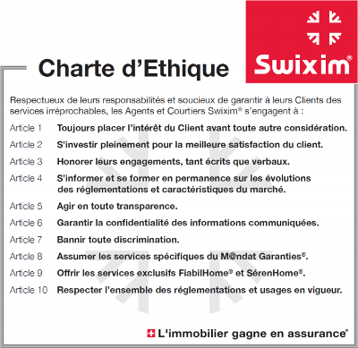 Charte éthique Swixim