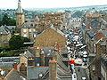 Fougères Vue depuis l'église Saint-Léonard