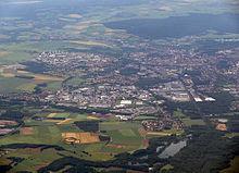 Vue aérienne de Beauvais