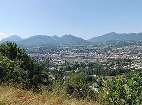 Chambéry depuis les Monts