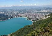 Annecy vue du mont Veyrier