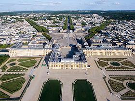 Vue aérienne du domaine de Versailles